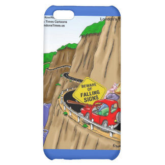Beware Of Falling Signs Funny Gifts Cards Tees Etc iPhone 5C Case