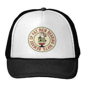 Beware Of Fat Men Funny Christmas Hat/Cap Cap
