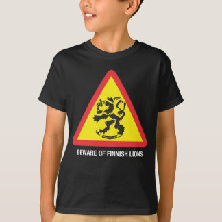 Beware of Finnish Lions Dark Kids' T-shirt