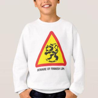 Beware of Finnish Lions Kids' Sweathirt Sweatshirt