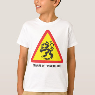 Beware of Finnish Lions Kids' T-shirt