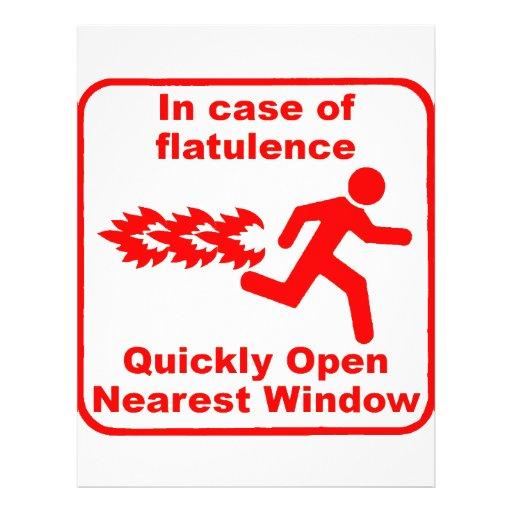 Beware of Flatulence! 21.5 Cm X 28 Cm Flyer