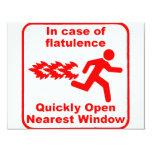 Beware of Flatulence! Custom Invites