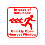Beware of Flatulence! Postcard