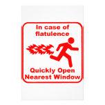 Beware of Flatulence! Stationery Design