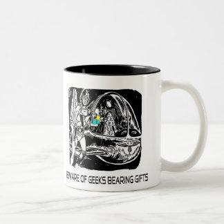 Beware of Geeks bearing gifts Two-Tone Coffee Mug