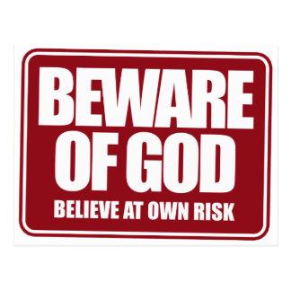 Beware of God Post Cards