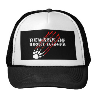 Beware of honey badger cap
