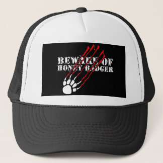 Beware of honey badger trucker hat