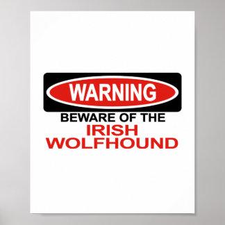 Beware Of Irish Wolfhound Print