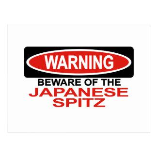 Beware Of Japanese Spitz Postcard
