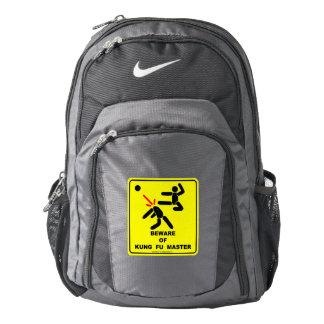 Beware of Kung Fu master Backpack