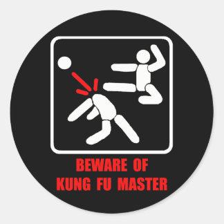 Beware of Kung Fu master Stickers