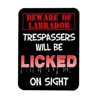 """Beware of Labradore"" Magnet (Black)"