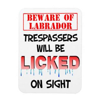 """""""Beware of Labradore"""" Magnet (White)"""