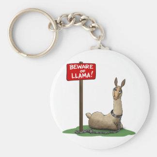 Beware of LLama! Key Ring
