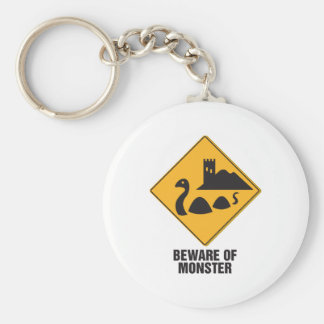 Beware Of Loch Ness Monster Basic Round Button Key Ring