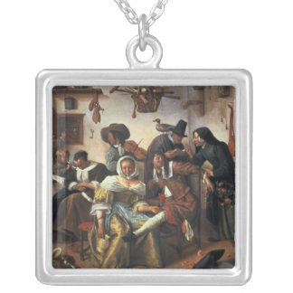 Beware of Luxury, c.1663 Silver Plated Necklace