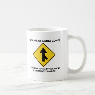 Beware Of Merge Zones Organizational Integration Classic White Coffee Mug