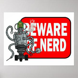Beware of nerd poster