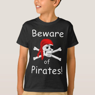 Beware of Pirates Kids T-shirt