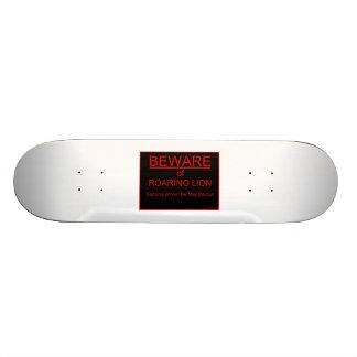 Beware of Roaring Lion Christian Skateboard