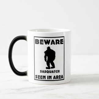 Beware of Sasquatch Poster Magic Mug