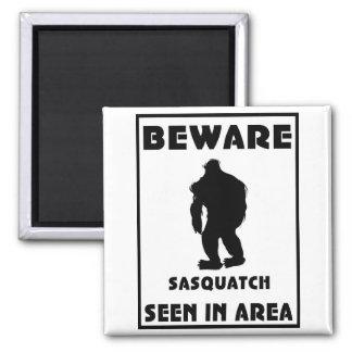 Beware of Sasquatch Poster Magnet
