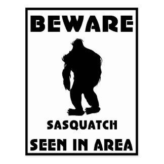 Beware of Sasquatch Poster Postcard
