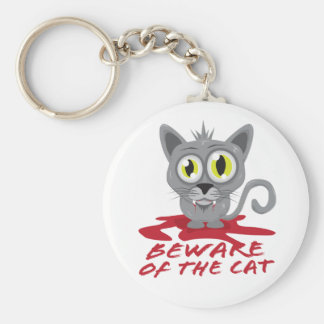 Beware Of The Cat Keychain