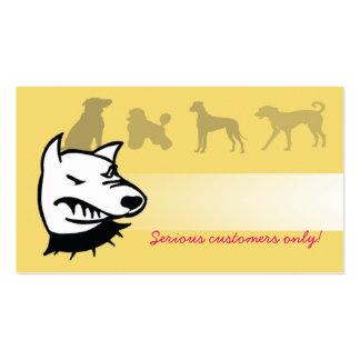 Beware of the dogs. business card template