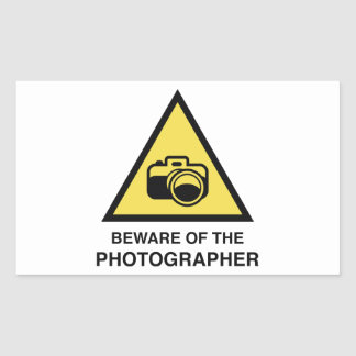 Beware Of The Photographer Rectangular Sticker