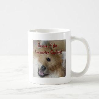 Beware of the Pomeranian Cyclops! Basic White Mug