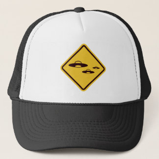 Beware of Ufo Funny Road Sign Trucker Hat