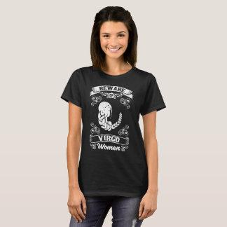 Beware of Virgo Women Zodiac Astrology T-Shirt