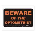 Beware / Optometrist Postcard
