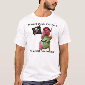 Beware Pirate Fur Face T-Shirt
