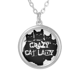 Beware the Black Cat Silver Plated Necklace
