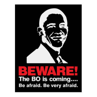 Beware The BO Dark Postcard