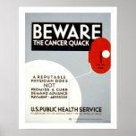 Beware The Cancer Quack (border) Poster
