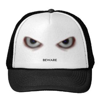 BEWARE THE EVIL EYES MESH HATS