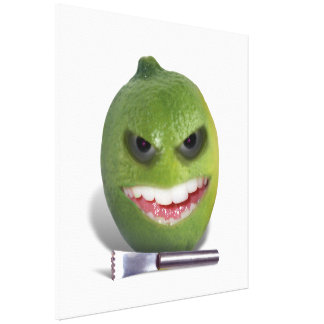 Beware the Lime with a Zester Canvas Prints