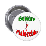Beware The Malocchio (Evil Eye) Badge