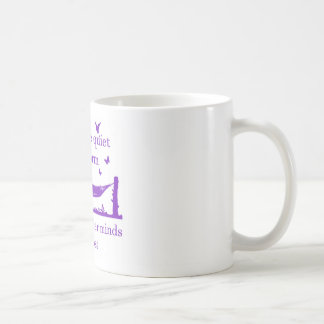 Beware The Quiet Bookworm (purple) Coffee Mug
