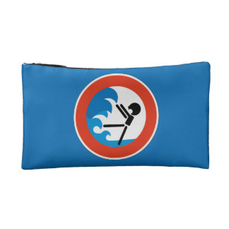 Beware the Tide Sign, Germany Cosmetics Bags
