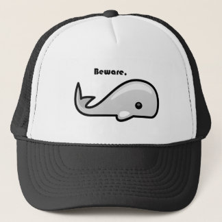 Beware the White Whale Cartoon Trucker Hat