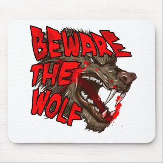 Beware The Wolf Mouse Mat