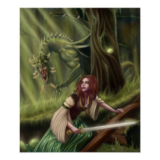 Beware the Woods Canvas Print