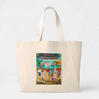 Beware Toxic News Canvas Bag