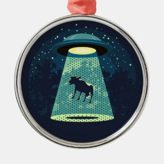 Beware UFO Christmas Ornament